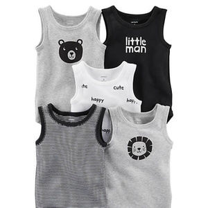 Carter's NWT Baby Boys' 5 Pack  Bodysuits 6 Mos